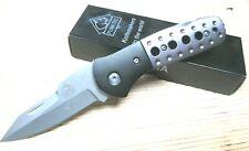 Puma Tec Taschenmesser Zweihandmesser Messer grau schwarz & Gürtelclip 306710