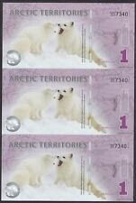 Arctic Territories (North Pole) 2012 One 1 Polar Dollar 3 in 1 UNCUT UNC