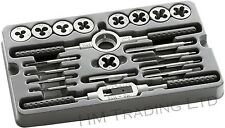 20 Pcs Tap & Die Alloy Steel Set Metric Wrench M3-M12 Thread Nut Bolt Tool Kit
