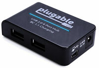 Plugable USB 2.0 4-Port High Speed Hub with 12.5W Power Adapter