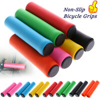 Ergonomic Rubber MTB Mountain Bike Bicycle Handlebar Grips Cycling Lock On Ends