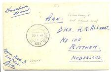 NED INDIE DUTCH INDIES 1947 = VELDPOST PALEMBANG 1= MET BRIEFINHOUD VW PR