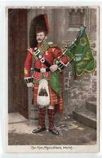 THE PIPE MAJOR, BLACK WATCH: Military postcard (C43379)