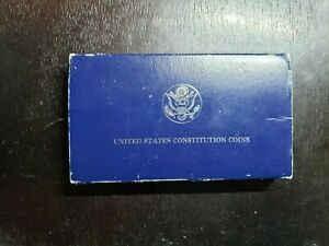1987 S US Constitution Proof Silver Dollar with Box/Coa
