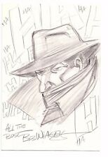 BOB WIACEK Original Signed Pencil Sketch Art THE SHADOW  HAHAHA  Comic Art