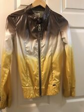 Miss Sixty Italy Jacket Windbreaker Ombre Yellow Brown XS