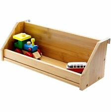 Clip on Bed Hanging Kids Shelf Toys Storage, Childrens Beds & Bunks, 50cm Bamboo