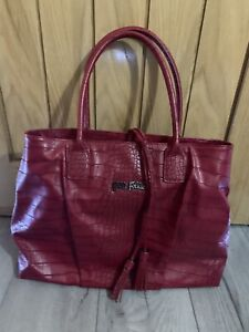 New Authentic Folli Follie Womens Large Croc Ruby Red Shoulder Bag & Dustbag