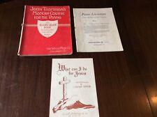 Piano Sheet trois livres John Thompson moderne cours: Piano Literature