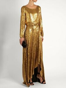Diane Von Furstenberg DVF 'delani' sequin dress gown BNWT £2000 size UK12