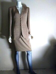 Emanuel Ungaro nice women winter career suit skirt sz 8/42 blazer skirt sz8P/42