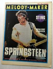 MELODY MAKER Music Magazine 6/8/1985 BRUCE SPRINGSTEEN Sting NICK CAVE MM#17 h