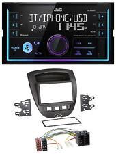 JVC AUX 2DIN USB MP3 Bluetooth Autoradio für Citroen C1 Toyota Aygo Peugeot 107