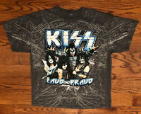 KISS Loud And Proud Tour 2012 Dates On Back Gray T-Shirt Size XL Men's