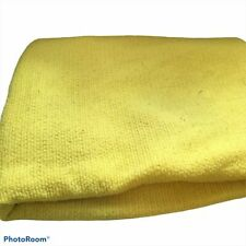Vintage Waffle Knit Satin Edge Acrylic Blanket yellow 64 x 84 Queen Size