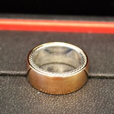 DAVID YURMAN Men's 18K Rose Gold + Silver Streamline Band Ring (9.3mm) (21512)