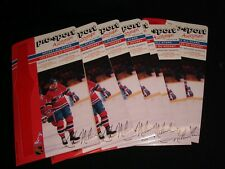 7 X 1986-87 Pro-Sport Autograph Card °MONTREAL CANADIENS  #30,CHRIS NILAN
