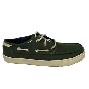 Toms Shoes Men's Size 9 Green New Factory Sample Lace Up Boat Shoes