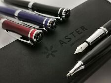Aster Pens Switzerland Fountain Pen in Leather Presentation Gift Box