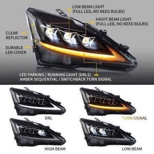 Vland Headlight (Clear markers) 2005-2013 Lexus IS250/IS350/ISF