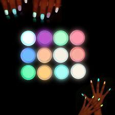 10 Boxes Charm Phosphorescent FLUORESCENT Powder Glow In Dark Nail Art Acrylic
