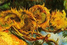 Vincent van Gogh Four Sunflowers Gone to Seed - Poster 24x36 inch