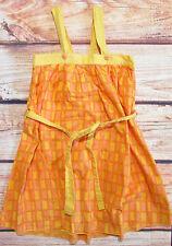 MARIMEKKO 'Noppa' Yellow Orange Sun Dress 110 cm 5 Years Kids Summer Wear
