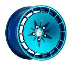 15X8.5 Klutch KM16 4x100 ET17 Fusion Blue Wheels Fits Civic Ef Ek Eg Miata Mr2