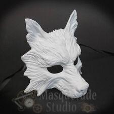 Wolf Animal Spirit Halloween Costume Wall Decoration Masquerade Mask [White]