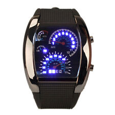 Men Cool Digital LCD Backlight Military Army Sports Wrist Watch Speed Meter Dial