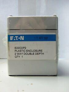 New Eaton E22CDP2 Plastic Enclosure Way Double Depth NIFP