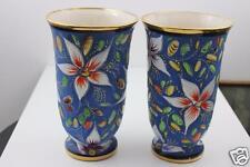 Exquisite H Bequet Quaregnon Made in Belgium Pair Large Vases c1940/50's