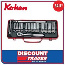 "Koken Socket Set 3/8"" Square Drive 6 & 12 Point 29 Piece Made in Japan - 3277"