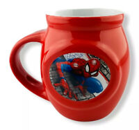 Spiderman Marvel Coffee Mug  Authentic Spidey Red  Spoon Holder in Handle