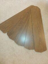 """VTG Hampton Bay Ceiling Fan replacement parts set of 5 wood grain blades 20.5"""" L"""