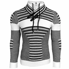 Pull Homme Col Montant Avec Zip Grosse Maille - 830