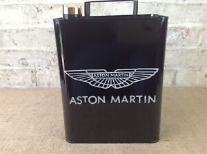 Retro style Aston Martin Oil can black Rectangular