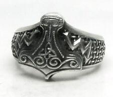 Anillo del Thor, Thor anillo con Thor Hammer + rayos...