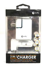 3 MACALLY 3 IN 1 CHARGER USB AC CAR CHARGER & BATTERY PACK FOR IPHONE IPOD