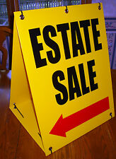 ESTATE SALE WITH ARROW Sandwich Board Sign 2-sided Kit NEW yellow