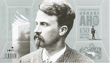 Finland 2011 MNH Sheet - Juhani Aho, Author 150 Years - Issued Sept 5, 2011