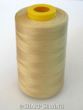 1 SPOOL FRENCH BEIGE 100%  POLYESTER SERGER QUILTING THREAD T27 6000 YARDS #722