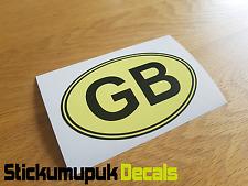 "GB Color Crema Ovale Auto Camper Van Paraurti Finestra Adesivo Decalcomania 5""/125 mm Wide"
