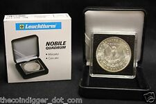 1 Morgan Silver Dollar QUADRUM INTERCEPT 2x2 Coin Holder Snap + Display Box Case