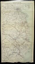 Map WICKLOW SECTION Howth Dublin to Arklow IRELAND Towns J Bartholomew ca 1900