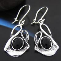 Onyx Silber 925 Ohrringe Damen Schmuck Sterlingsilber H516