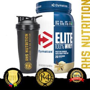 Dymatize Nutrition Elite 100% Whey Protein Powder 2lb BCAAs WPI WPC Gluten Free