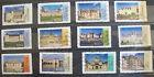 Lot de 12 timbres oblitérés FRANCE 2015 Chateaux Renaissance