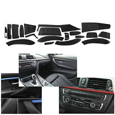 Matte Carbon Fiber Interior Decal Sticker Trim Package for BMW 3 Series F30 F31