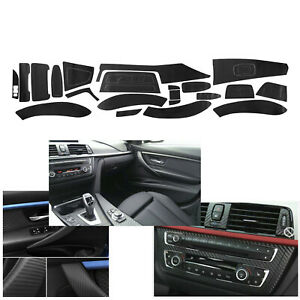 Matte Carbon Fiber Interior Decal Sticker Trim Package for BMW 3 Series F30 F31